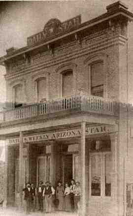Tucson Daily Star Building 1881